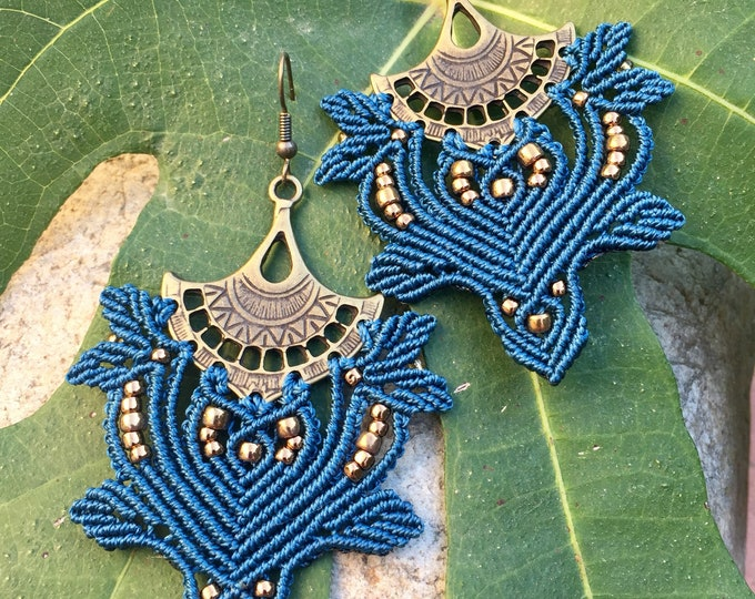 Micro-macramé MIA PROVENCE Bohemian chic, hippie chic bohemian earrings