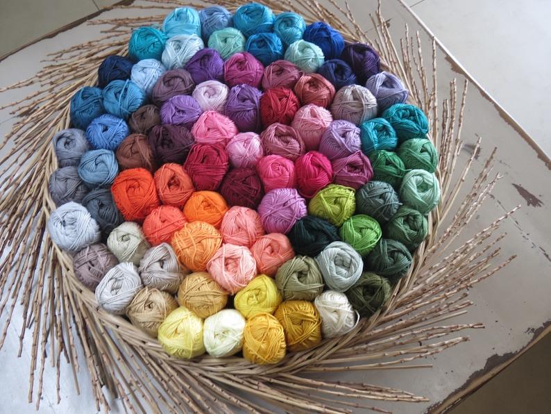 Hand knitting yarn 50gr 100/% mercerized cotton yarn 15 Mix cotton yarn Bulk cotton yarn High quality cotton yarn