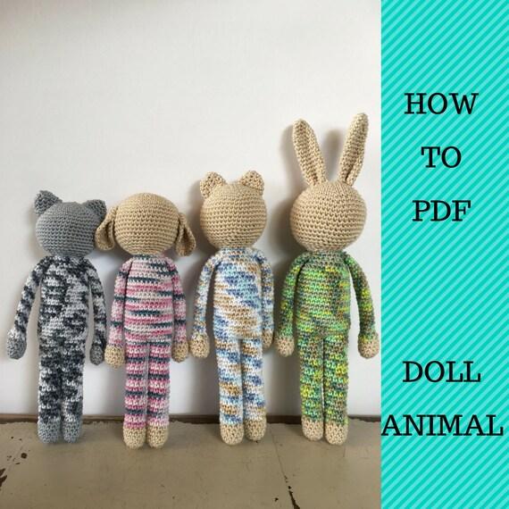 Crochet Animal Patterns Animal Doll Patterns Amigurumi Etsy