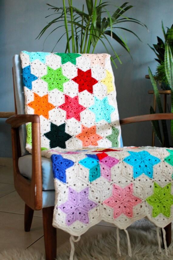 Häkeln Sie Decke Stern Decke Stern Decke Stern Decke | Etsy