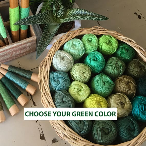 Garn grüne Baumwolle grün Strickgarn grün häkeln Garn 50 | Etsy