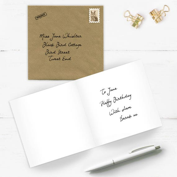 Write Post Card Direct Add On Card Sent Direct To Etsy
