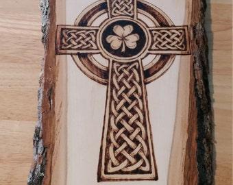 Celtic Cross with Shamrock
