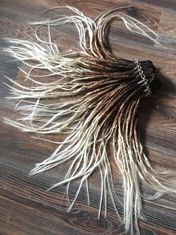 Dreadlocks synthétiques x10 ou l'ensemble complet double terminé ou simple terminé dreadlocks cheveux extension noir OMBRE à rouge brun (rousse) à blonde