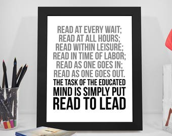 books poster reading quote reading poster breathing print