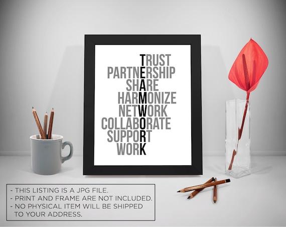 Team Arbeit Motivation Zitate Teamarbeit Druck Vertrauen Etsy