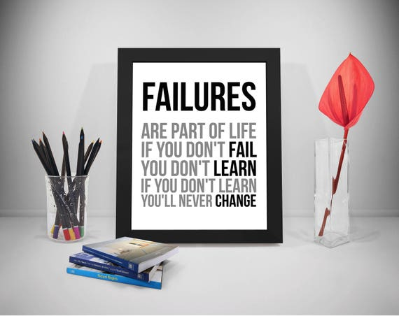 Failure Are Part Of Life Failure Quotes Fail Quote Failure Etsy