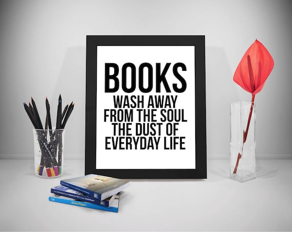 Books Wash Away From The Soul Book Quotes Book Print Etsy Best Life Quotes Books