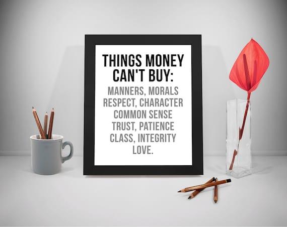 Citaten Geld Geldt : Dingen die geld kan niet kopen geld afdrukbare citaten buy etsy
