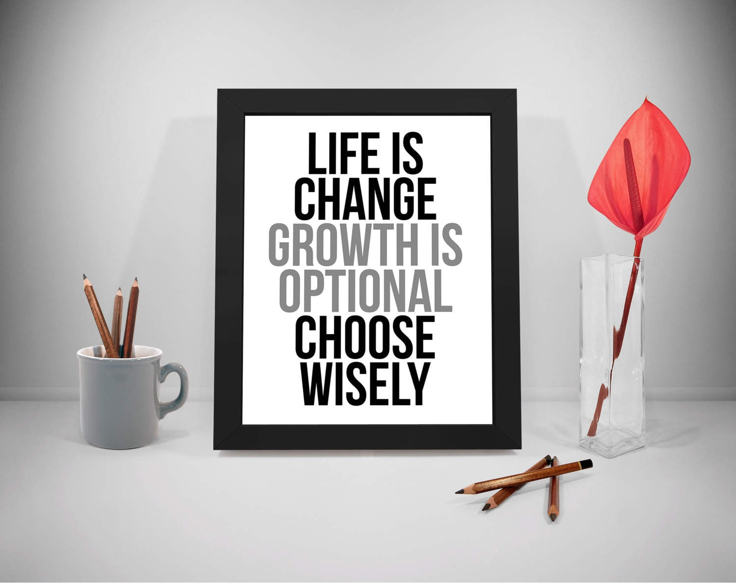 life is change printable quotes growth sayings life print | etsy