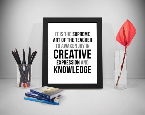 Lehrer Zitate Kreative Sprüche Dekor Wissen Drucke Klassenzimmer Sagen Wissen Zitat
