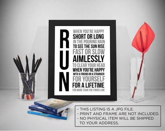 Laufen Laufen Geschenke Laufen Zitate Motivation Inspiration Glücklich Laufen Laufen Laufen Laufen Inspiriert Druck Rennt Zeichen