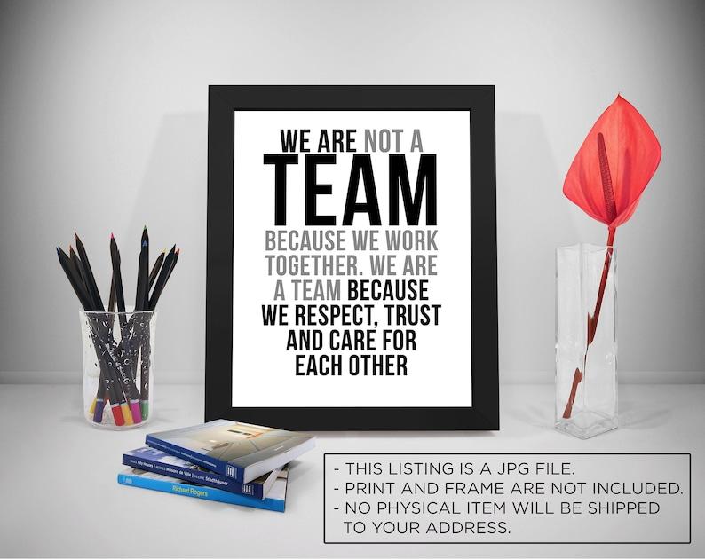Citaten Over Vertrouwen : We zijn niet een team omdat we team werk citaten business etsy