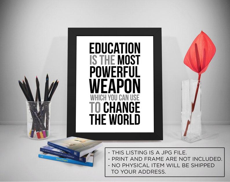 Citaten Hart Onder De Riem : Onderwijs is de meest krachtige wapen citaten nelson mandela etsy
