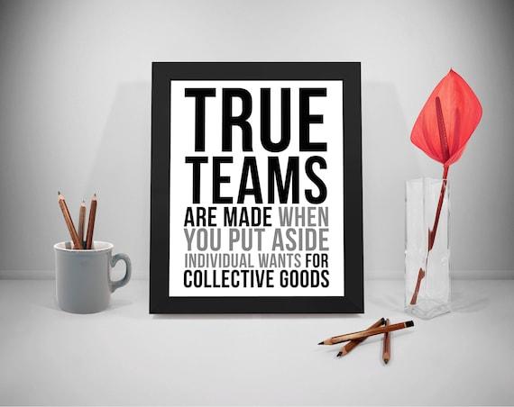 team sprüche Echte Teams druckbare Zitate Team Arbeit Sprüche | Etsy team sprüche