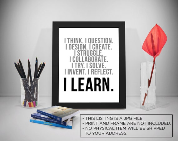 Lernen Sie Druckbare Zitate Sprüche Bildung Fotodruck Inspirierende Drucke Schule Schwarz Und Weiß Druckbare Schule Lernen