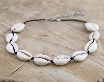 Cowrie Choker Necklace | Sea Shell Choker | Natural Shell Necklace | Cowry Kauri Shell | Ibiza Necklace | Cowrie Shell Choker | Beach