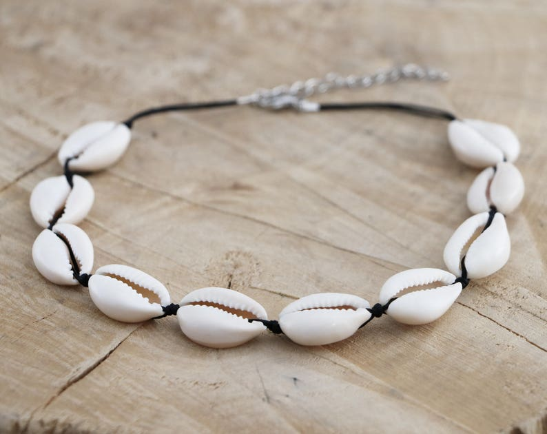 Cowrie Choker Necklace  Sea Shell Choker  Natural Shell image 0