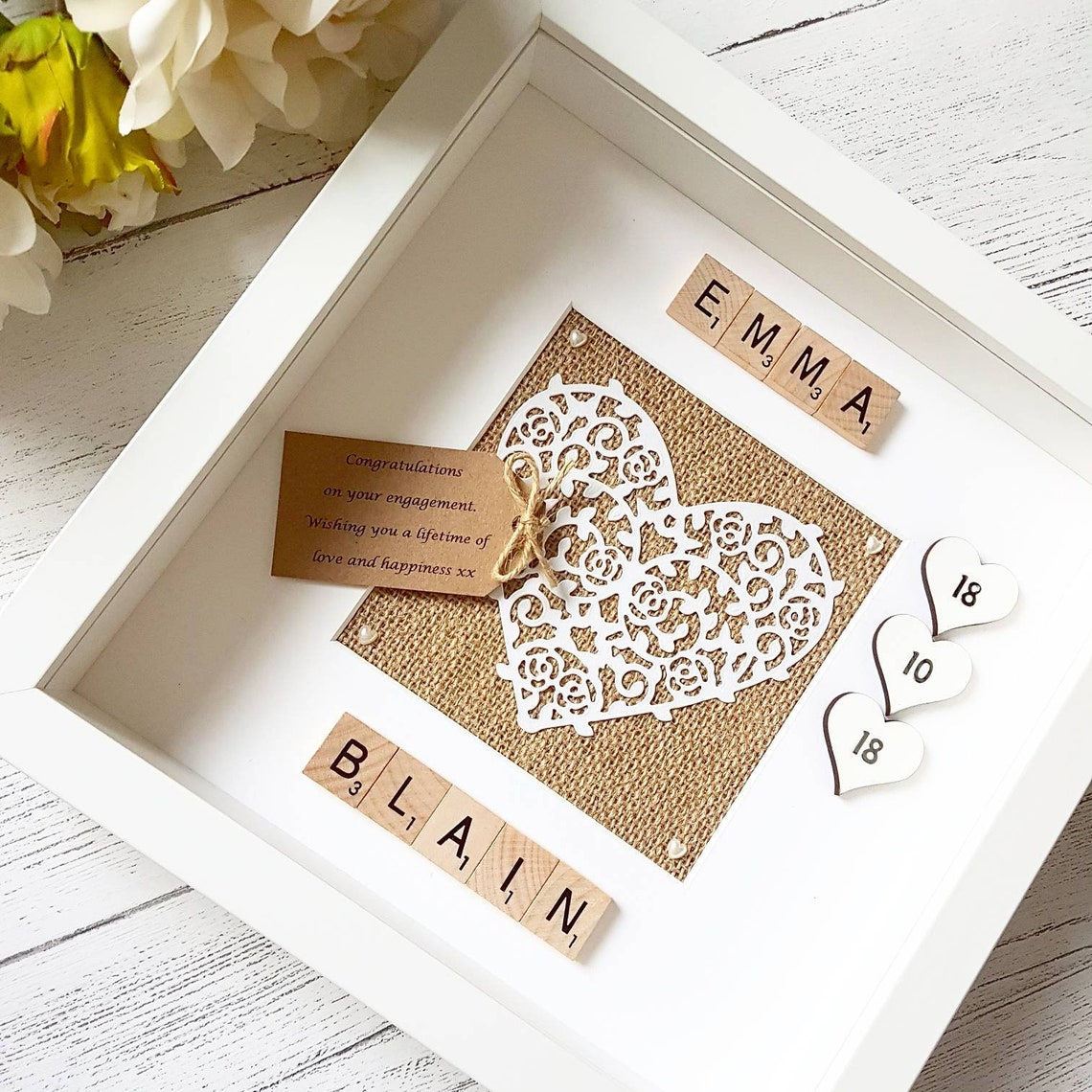Engagement Keepsake Frame