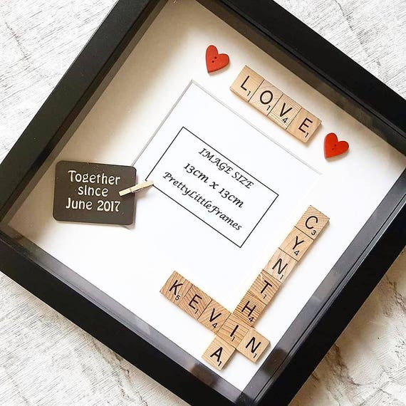 Personalised LOVE Scrabble Photo Frame Personalised | Etsy