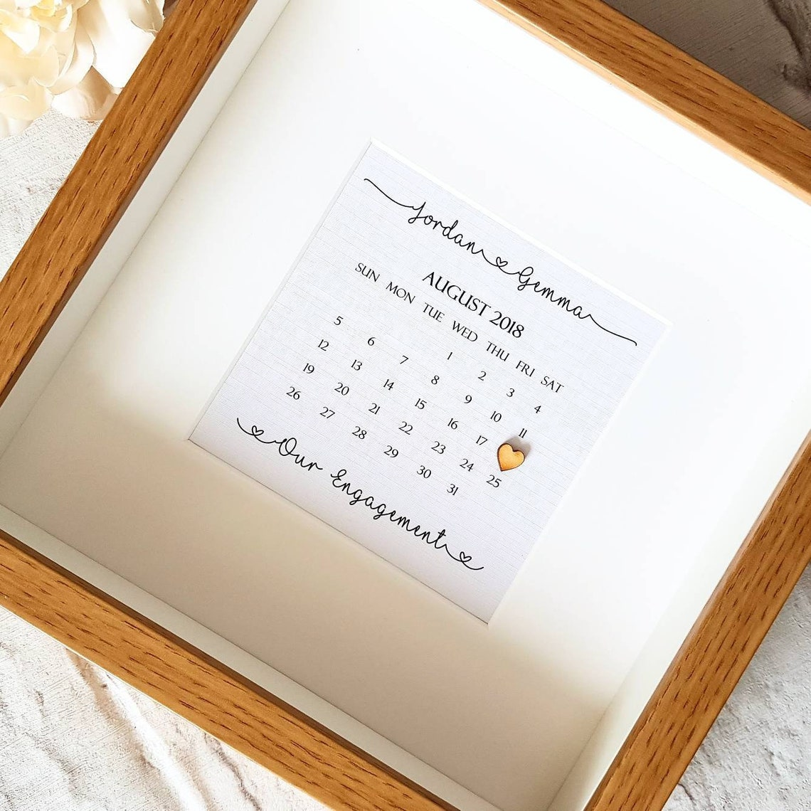 Personalised Calendar Frame