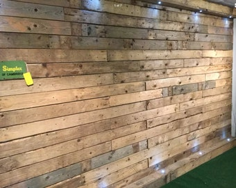 1 sq M - Wood Wall Cladding - Pallet Wood Cladding - Dry, Denailed, Ready to Fit