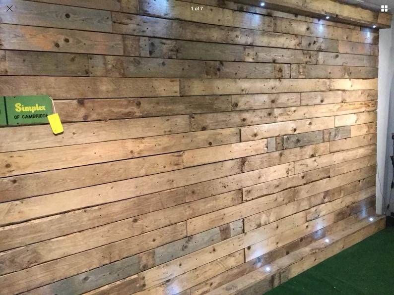 1 sq M  Wood Wall Cladding  Pallet Wood Cladding  Dry image 1
