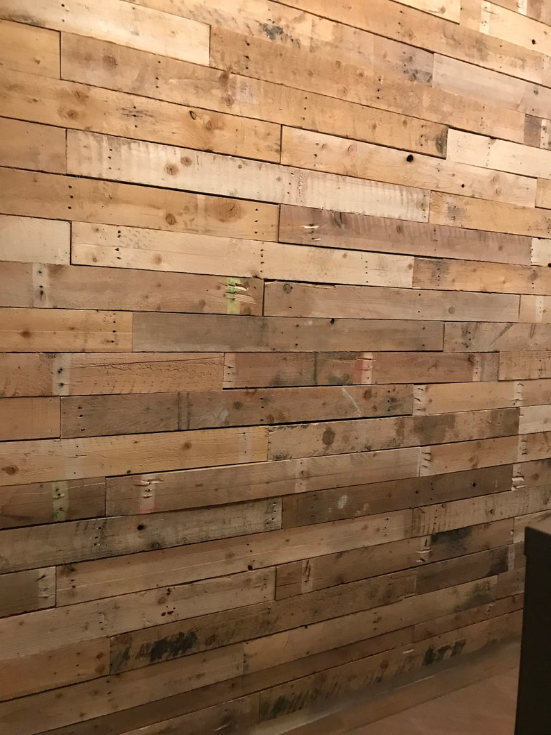 100 Boards / Planks of Reclaimed Pallet Wood for Wall Cladding image 1