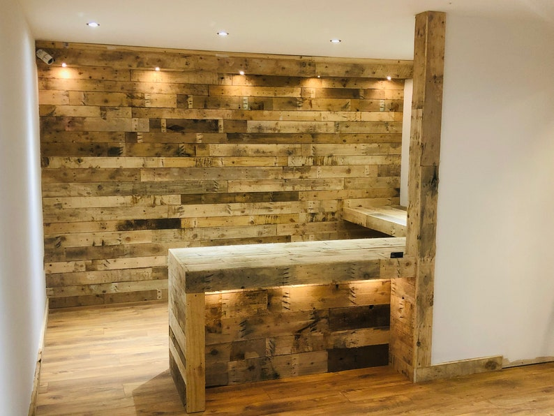 10 Boards / Planks of Reclaimed Pallet Wood for Wall Cladding image 1