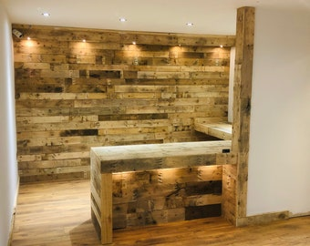 1 Sq M - Rustic Reclaimed Pallet Wood Wall Cladding - Planks / Boards - Free Delivery, Dry, Denailed, Ready to Fit
