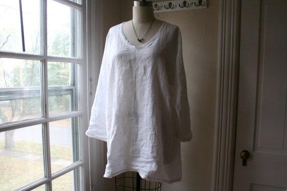 ae609dd3b8 Linen Sleep Shirt   Womens Ellie White Linen