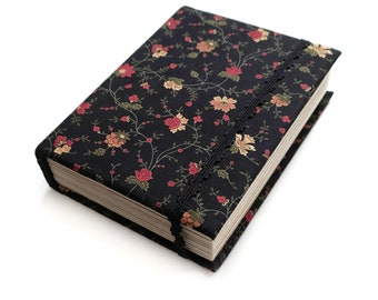 Blank book 400 aged pages, Custom notebook, Floral thick diary, Writing journal, Witch Journal, Fabric journal cover