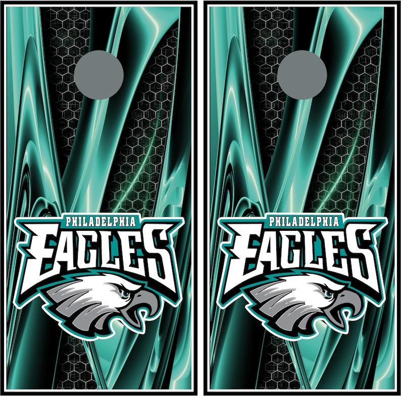 Custom Cornhole board game decals stickers Philadelphia Eagles 039 wraps