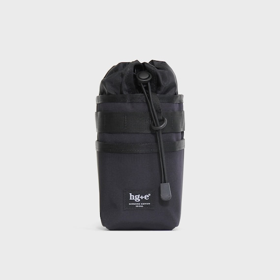 Bicycle cycling Stemhandlebar bag(Cordura Black), Brompton bag, bottle Bag, Handmade in Seoul, Korea, HGE(Hangang Edition)