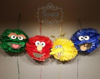 Sesame Street Pom Poms