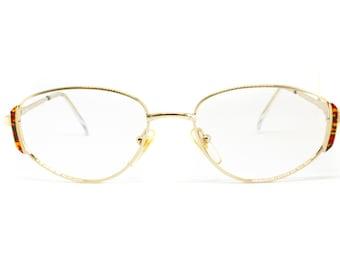 cd120cdb65 Little oval eyeglasses womens FIELMANN mod. swn 17 tr adorned pattern frame