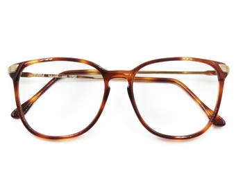 099df97b5a57 Trevi mod. VIP 884 eyeglasses eyewear frame acetate and metal // Golden &  Brown spotted // Squared frame // Deadstock 1970s