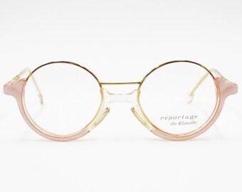 de26293e26 Round outstanding glasses frame womens REPORTAGE DE CLAUDE 5007