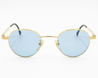 630f095a7f Sting 4069 Vintage 80s Sunglasses men women Round gold
