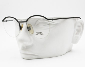 0d09650067 TRUSSARDI ACTION ATR 45 Vintage round frame eyeglass half rimmed