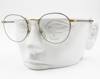 e514348797 Façonnable MILTON 748 round pantos frame Luxury eyeglass frame Gold 22k  Carats , New Old Stock 90s
