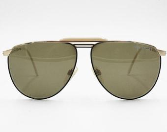 1fcb4567dcec FILA SPORT 8503 A Vintage Aviator sunglasses, Oval drop lenses black &  gold, New Old Stock 1980s