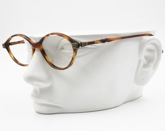b84e644000e3 Cotton Club by Trevi Vintage oval frame glasses opaque brown tortoise, Made  in Italy 1990s, New Old Stock