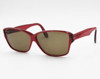 52c575350fc Luxottica vintage rectangular sunglasses Red   Black