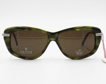 701f57950f8f Gucci GG 2152 S Vintage sunglasses green shaded mask shape slightely  oversize