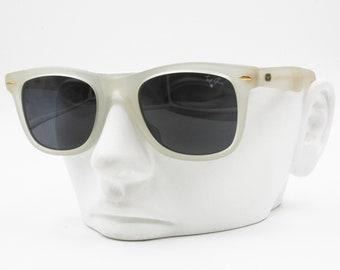 dd1f3f218bd0 Opaque Semitransparent Wayfarer Sunglasses TOP GUN made in Italy