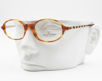 c2637c22954bc VALENTINO Vintage glasses frame oval tortoise