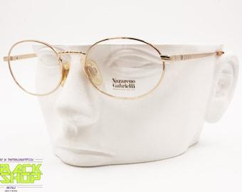199b300916 Vintage oval golden frame chiseled NAZARENO GABRIELLI
