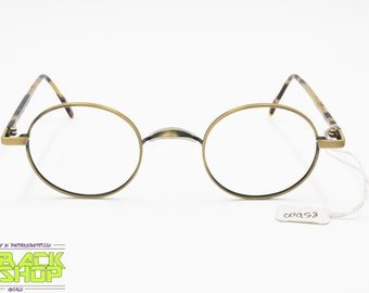 60aaa51235b1 SISLEY 204 - 10A Vintage 90s eyeglass-sunglasses frame round circle, Aged  gold & tortoise, New Old Stock
