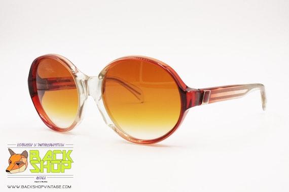 LANVIN Sunglasses, round rims Red & Clear, Vintag… - image 2